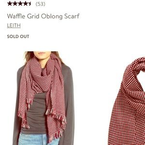 Leith waffle grid oblong scarf Nordstrom